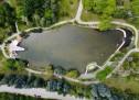 Езерото в Сандански, заснето от дрон